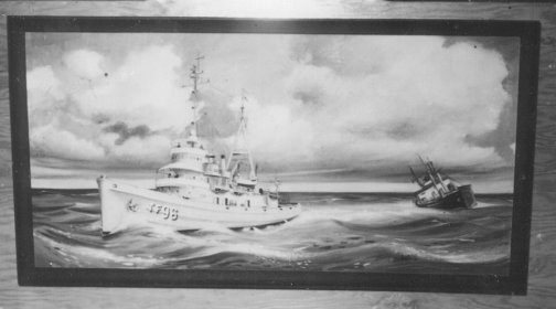 Painting of USS Abnaki