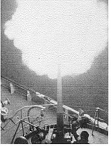 USS Abnaki Firing in Korea